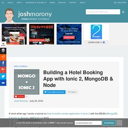 Building a Hotel Booking App with Ionic 2, MongoDB & Node