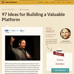 97 Ideas for Building a Valuable Platform