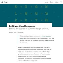 Building a Visual Language – Airbnb Design