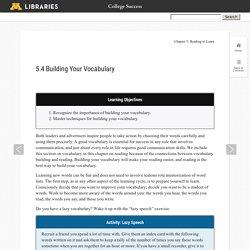5.4 Building Your Vocabulary