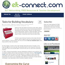 Tasks for Building Vocabulary - ELT Connect