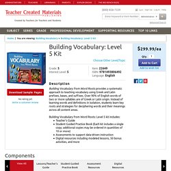 Building Vocabulary: Level 5 Kit