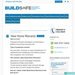 Building Warranty Insurance UK, New Build Warranty UK