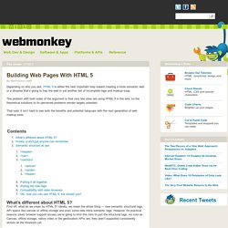 Building Web Pages With HTML 5