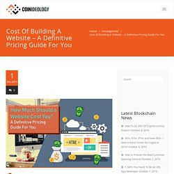 Cost Of Building A Website - A Definitive Pricing Guide For You