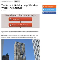 The Secret to Building Large Websites: Website Architecture