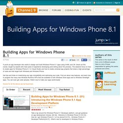 Building Apps for Windows Phone 8.1