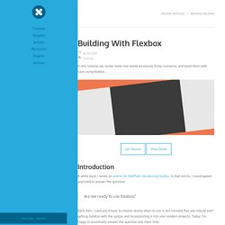Building With Flexbox