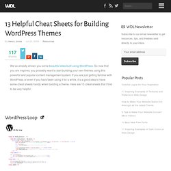 13 Helpful Cheat Sheets for Building WordPress Themes | Resources