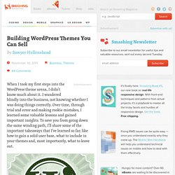 Building WordPress Themes You Can Sell