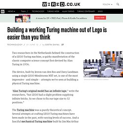 Building a working Turing machine out of Lego is easier than you think