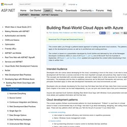 Building Real-World Cloud Apps with Azure