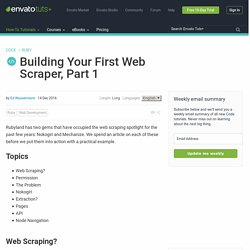 Building Your First Web Scraper, Part 1