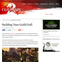 Building Your Guild Hall