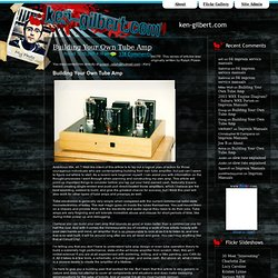 Building Your Own Tube Amp