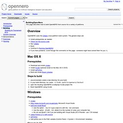 BuildingOpenNero - opennero - This page describes how to build OpenNERO from source for a variety of platforms. - Project Hosting on Google Code