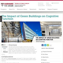 The Impact of Green Buildings on Cognitive Function