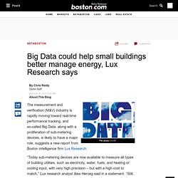 Big Data could help small buildings better manage energy, Lux Research says  - Innovation