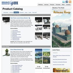 3D Meshbox Buildings for MAX, Shade, Vue, Poser and DAZ Studio