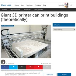 Make: Online : Giant 3D printer can print buildings (theoretical