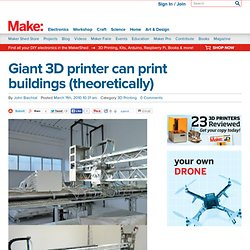 Online : Giant 3D printer can print buildings (theoretical