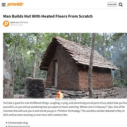 Man Builds Tiled Hut With Heated Floors From Scratch