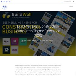 BuildWall Best Construction WordPress Theme Download 2020 - 69Themes