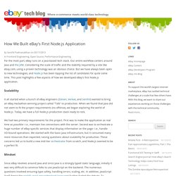 How We Built eBay's First Node.js Application — eBay Tech Blog