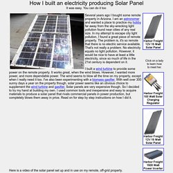 How I built an electricity producing Solar Panel