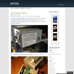 …built a power supply… « WH7DA