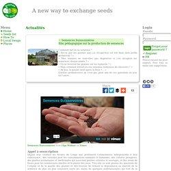 Semences buissonnières <br>film pédagogique sur la production de semences
