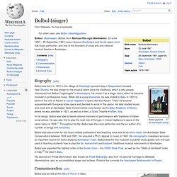 Bulbul (singer)