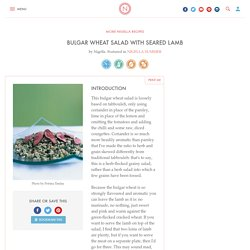 Bulgar Wheat Salad With Pink-Seared Lamb