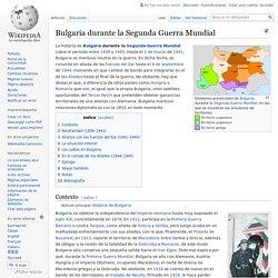 Bulgaria durante la Segunda Guerra Mundial