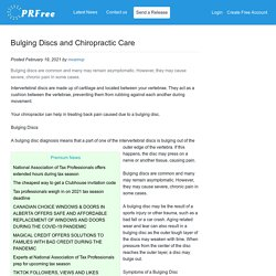 Bulging Discs and Chiropractic Care