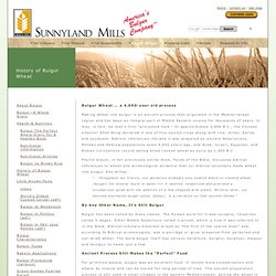 Bulgur Wheat - a 4,000-year old process