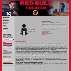 Red Bull Theater - Redbull Theater Education