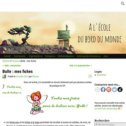 Bulle : mes fiches