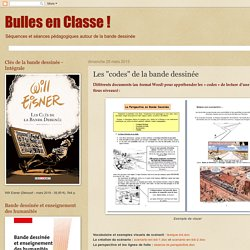 """Bulles en Classe !: Les """"codes"""" de la bande dessinée"""