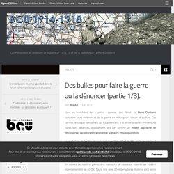 Des bulles pour faire la guerre ou la dénoncer (partie 1/3). – BCU 1914-1918