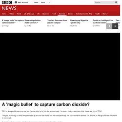 *****Mitigation: A 'magic bullet' to capture carbon dioxide?