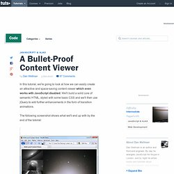 A Bullet-Proof Content Viewer