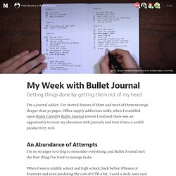My Week with Bullet Journal — Better Humans