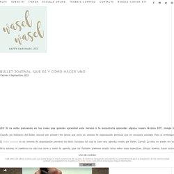 Bullet Journal: qué es y cómo hacer uno » Wasel Wasel