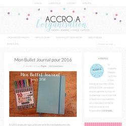 Mon Bullet Journal pour 2016 - Accro à l'Organisation