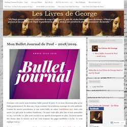 Mon Bullet Journal de Prof – 2018/2019.