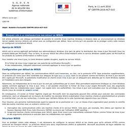 Bulletin d'actualité CERTFR-2016-ACT-015
