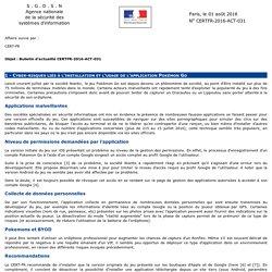 Bulletin d'actualité CERTFR-2016-ACT-031