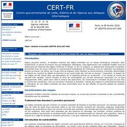 Bulletin d'actualité CERTFR-2016-ACT-006