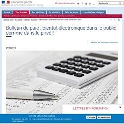 Bulletin de paie : bientôt électronique dans le public comme dans le privé !